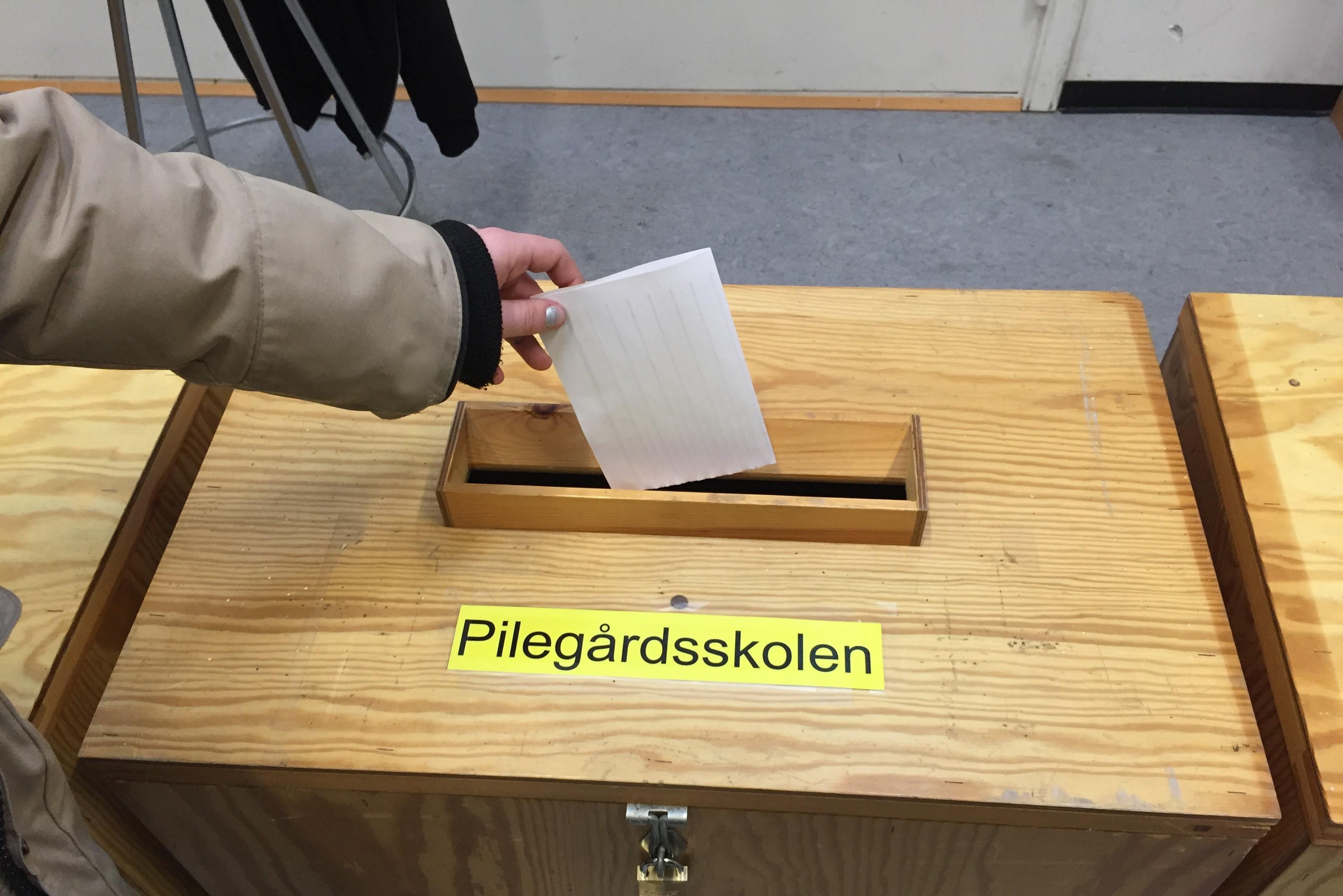Skolevalg 2017 på Pilegårdsskolen