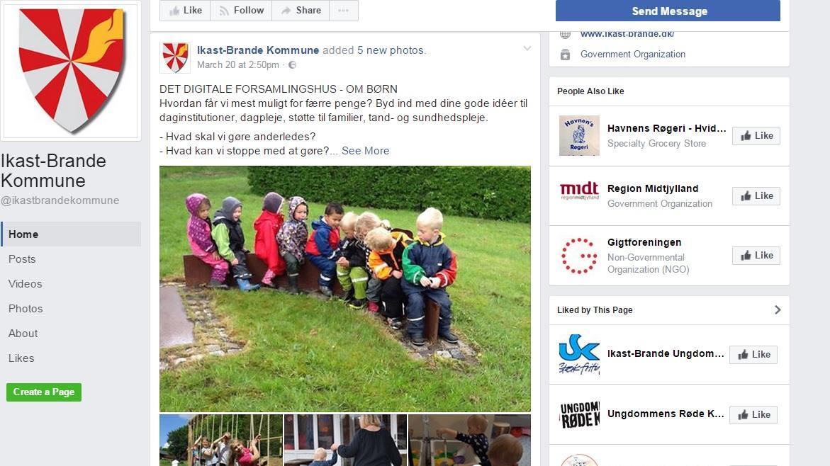 digitalt forsamlingshus facebook Kommune spørger børnepolitik