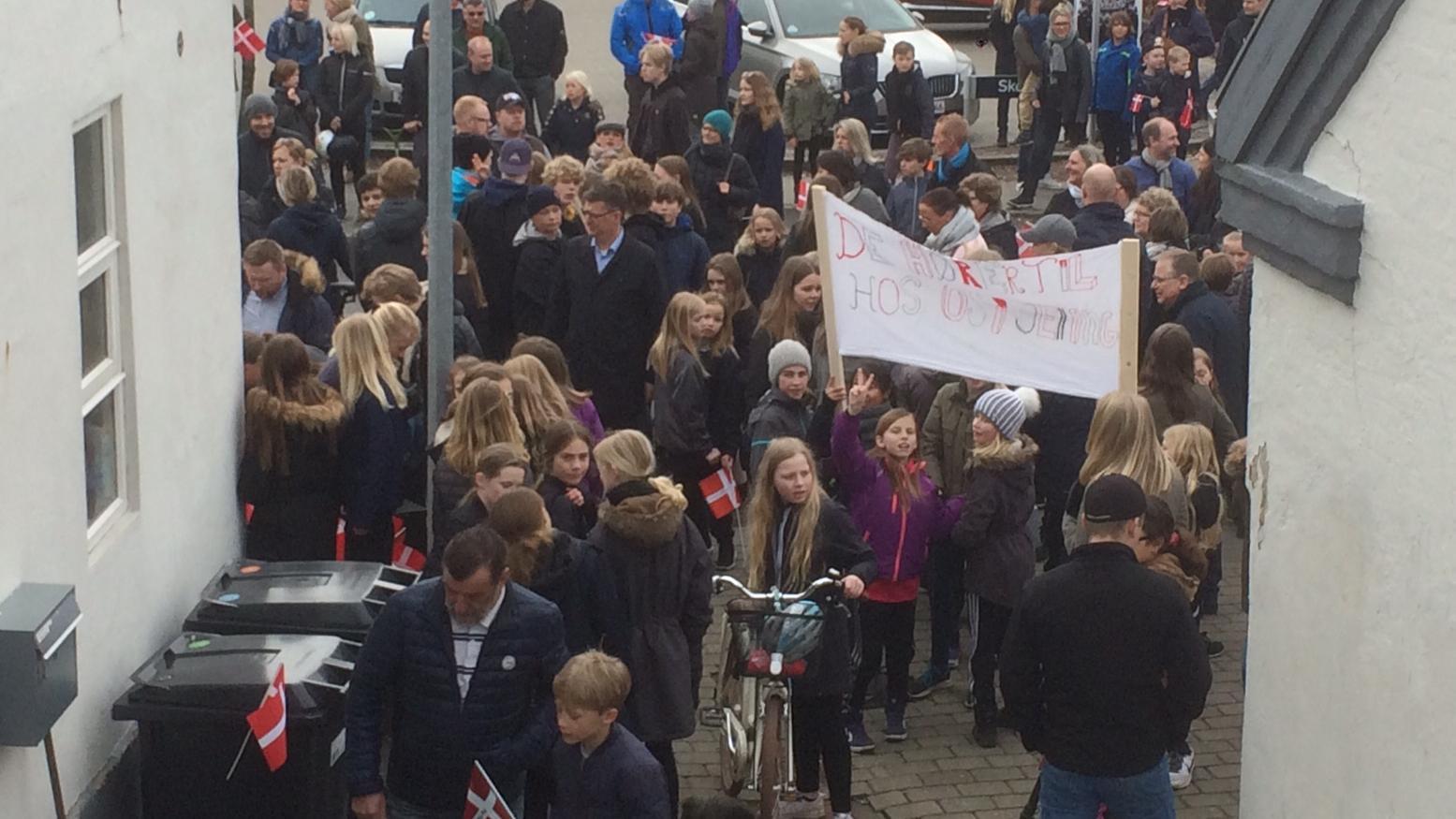 Familien Shamasneh, demonstration, Jelling, udvisning