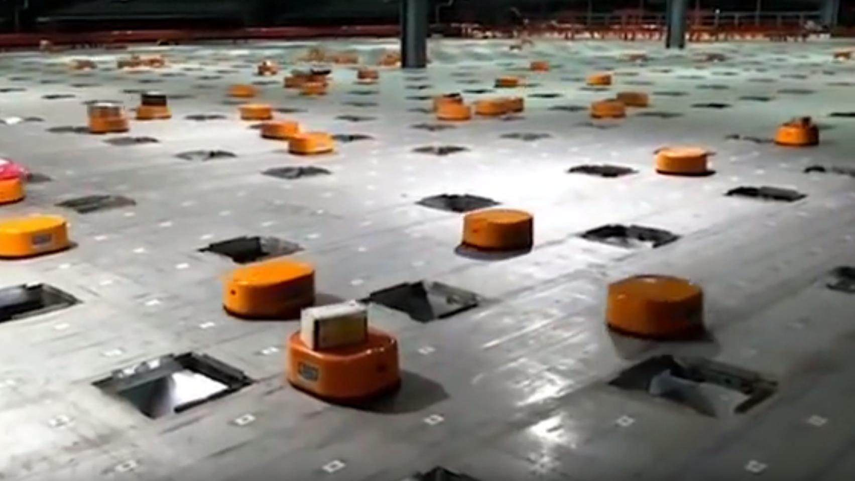 Sorteringsrobotter på arbejde