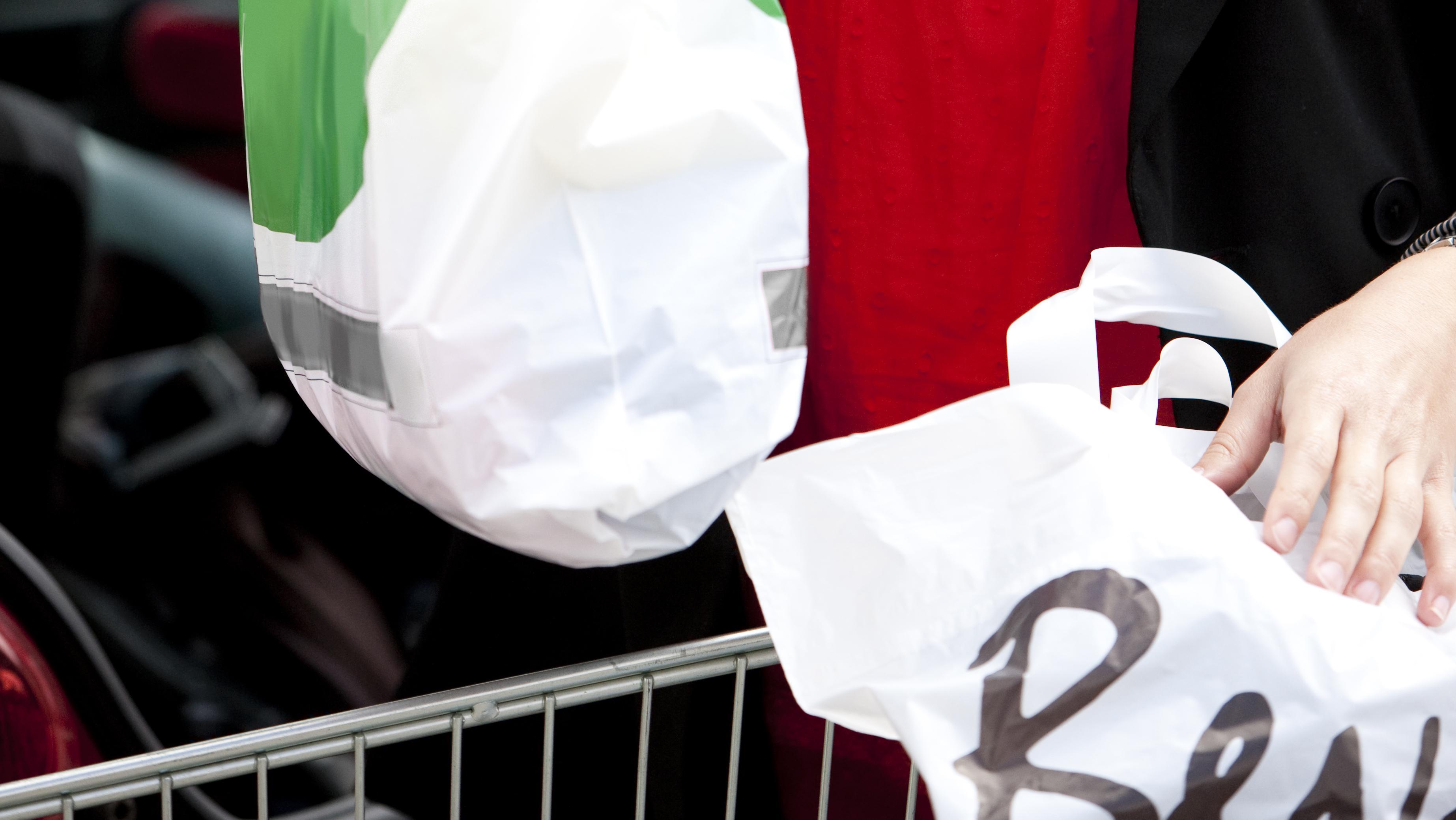 Plastikpose shopping