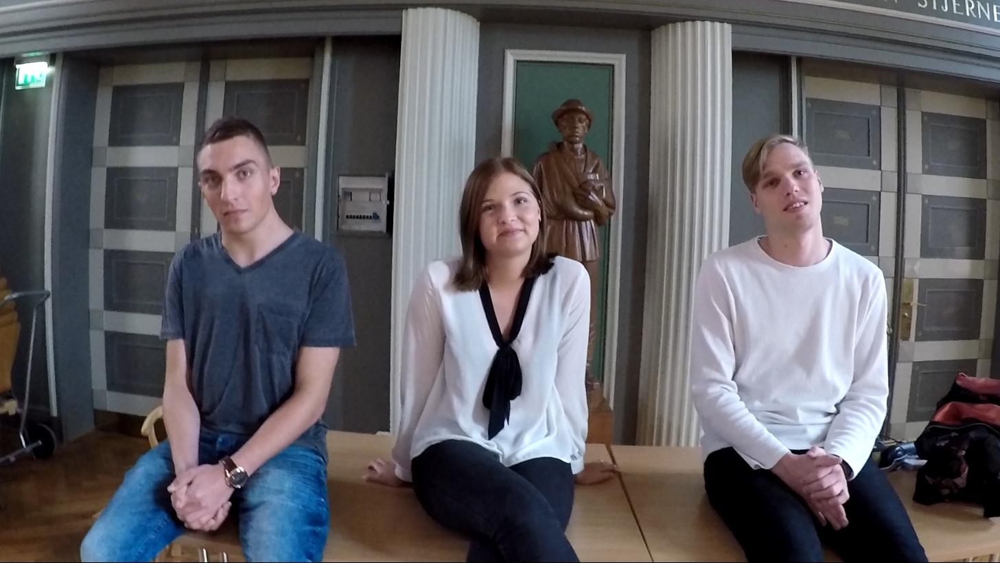 Tyske elever på Duborg Skolen.