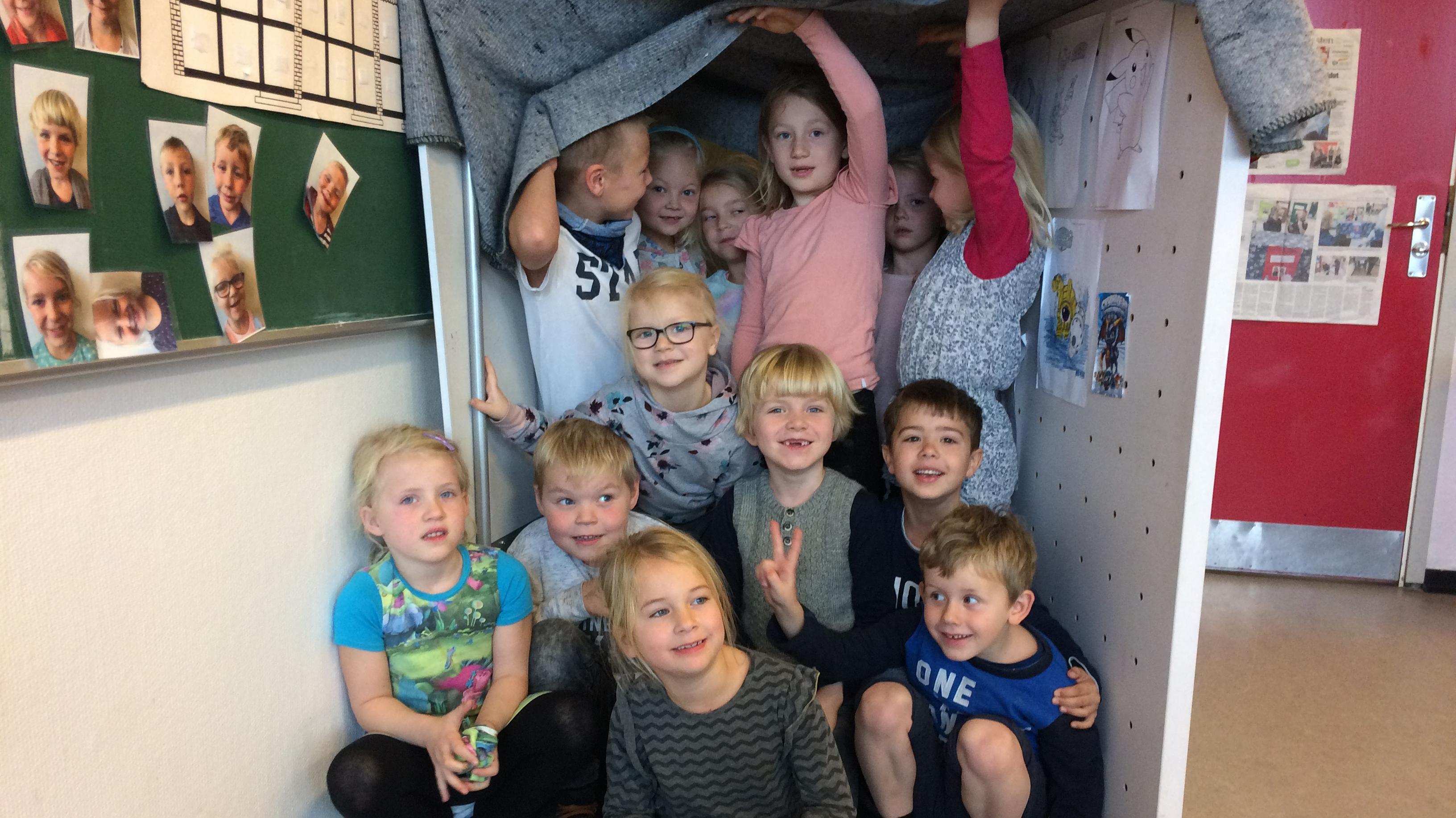 Børnene i 0. klasse på Vittenbergskolen
