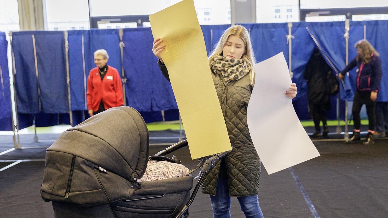 Kommunalvalg på Lykkebo Skole i Valby