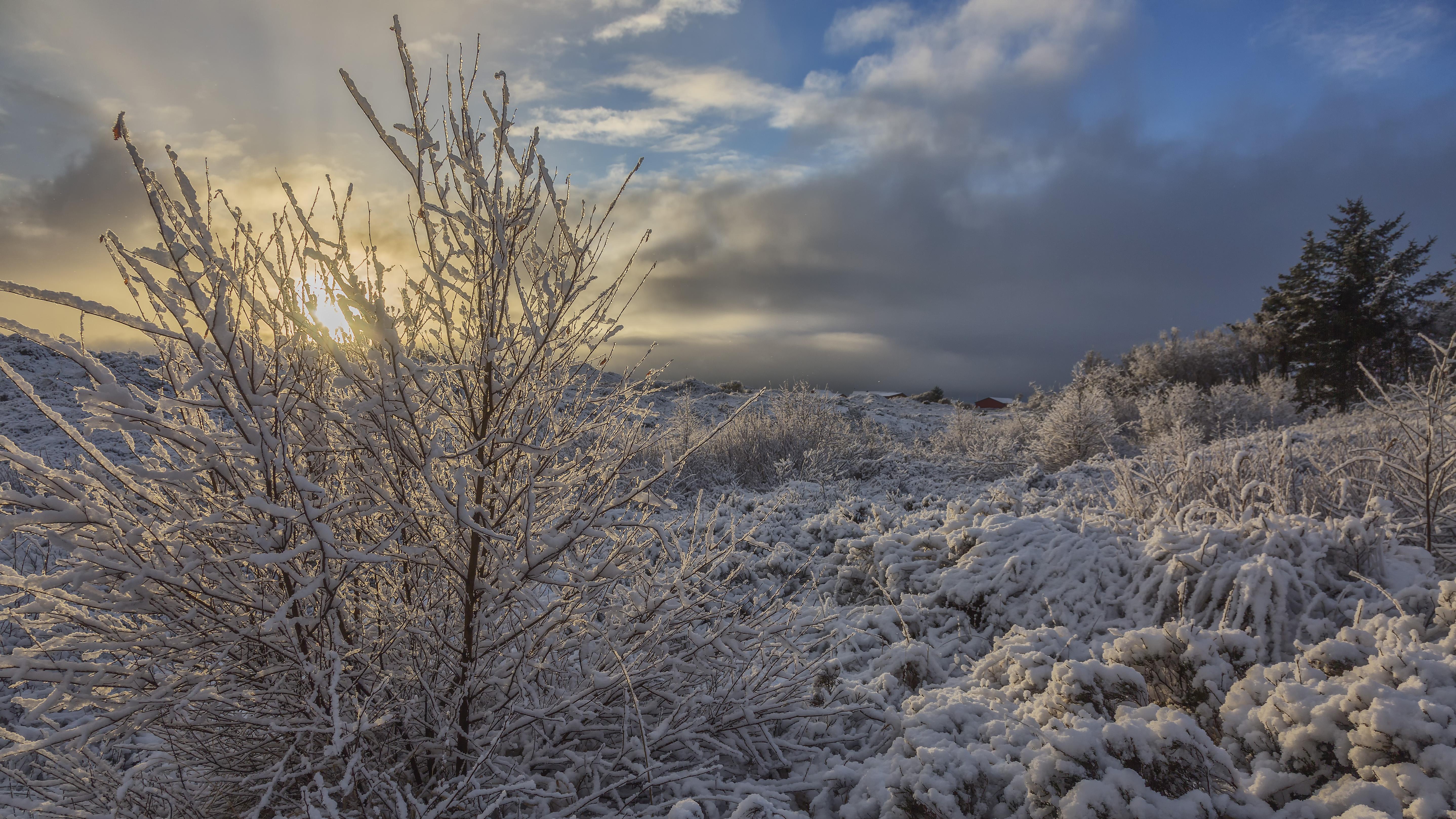 Vintervejr i Nordjylland