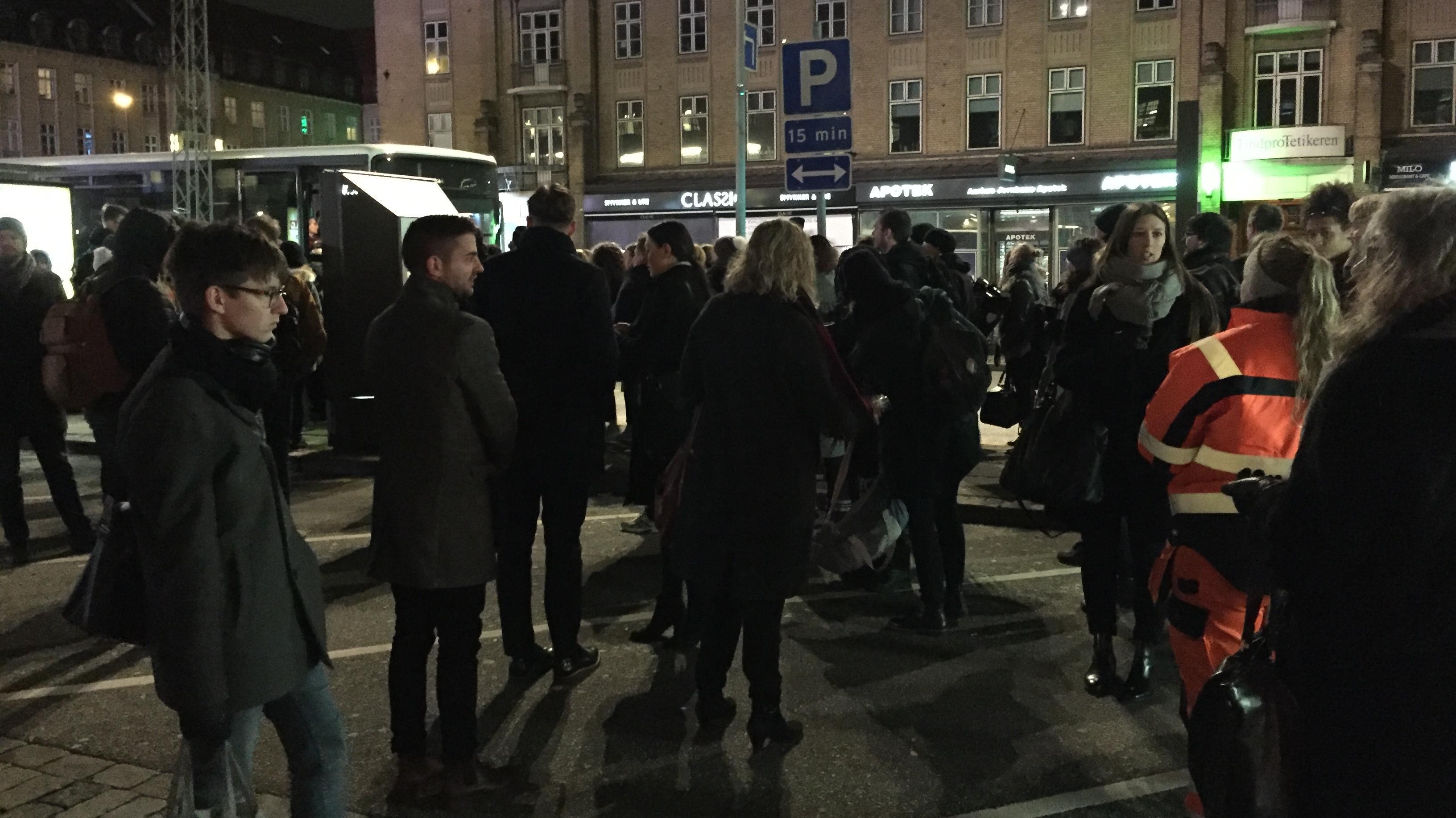 Togbusser på aarhus Hovedbanegård