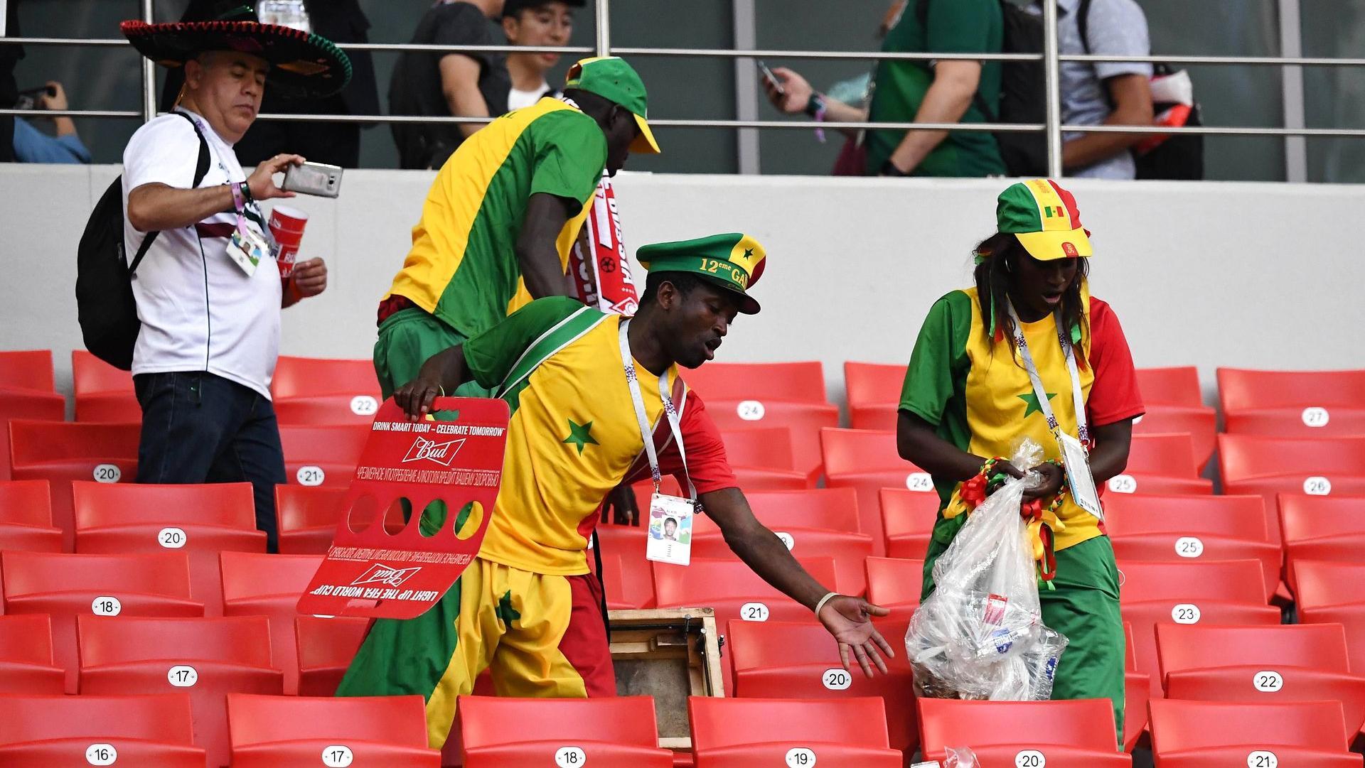 Senegals fans udviste ekstremt god stadion-stil efter opgøret mod Polen.