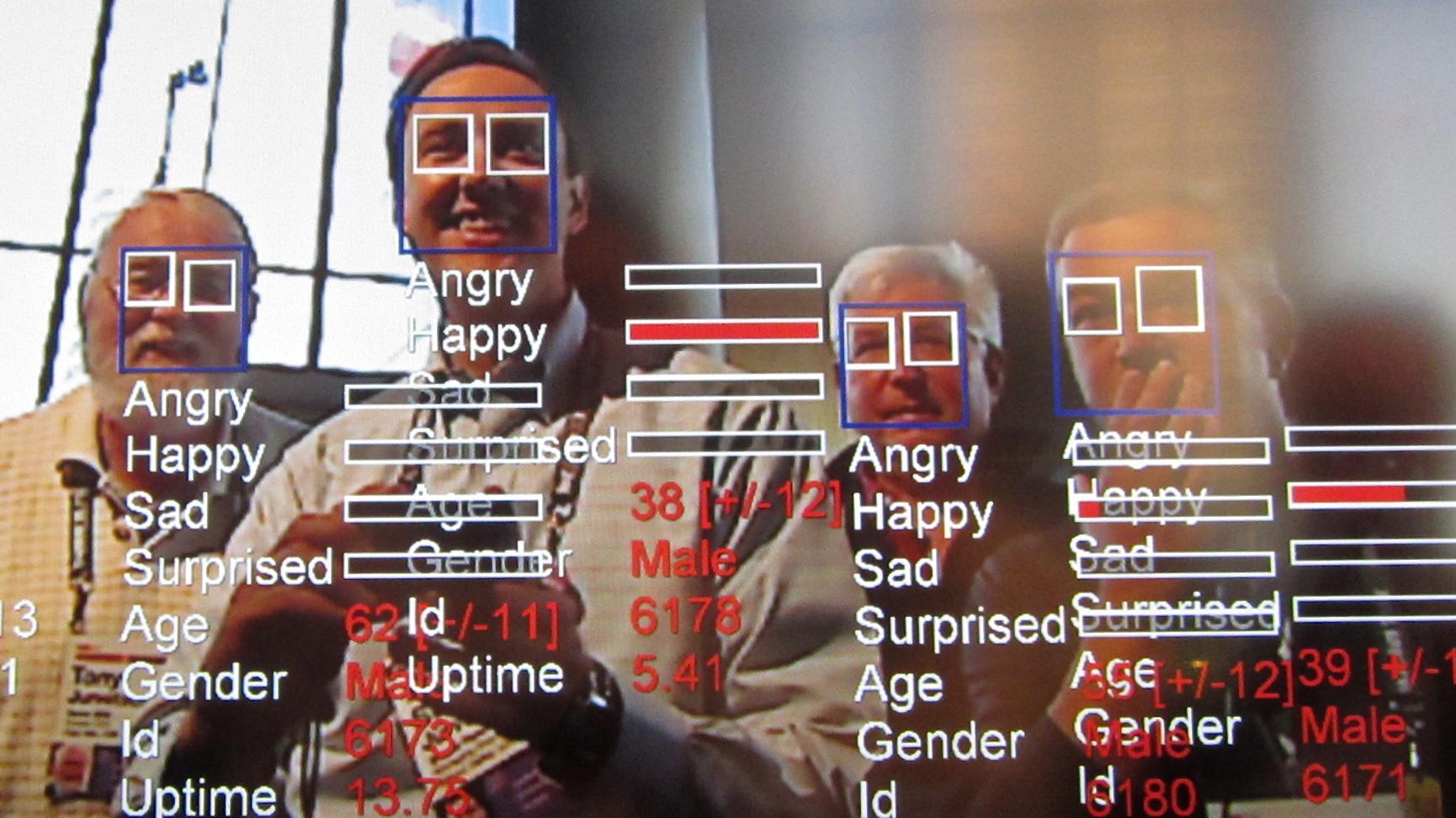 Ansigtsgenkendelse på en fladskærm