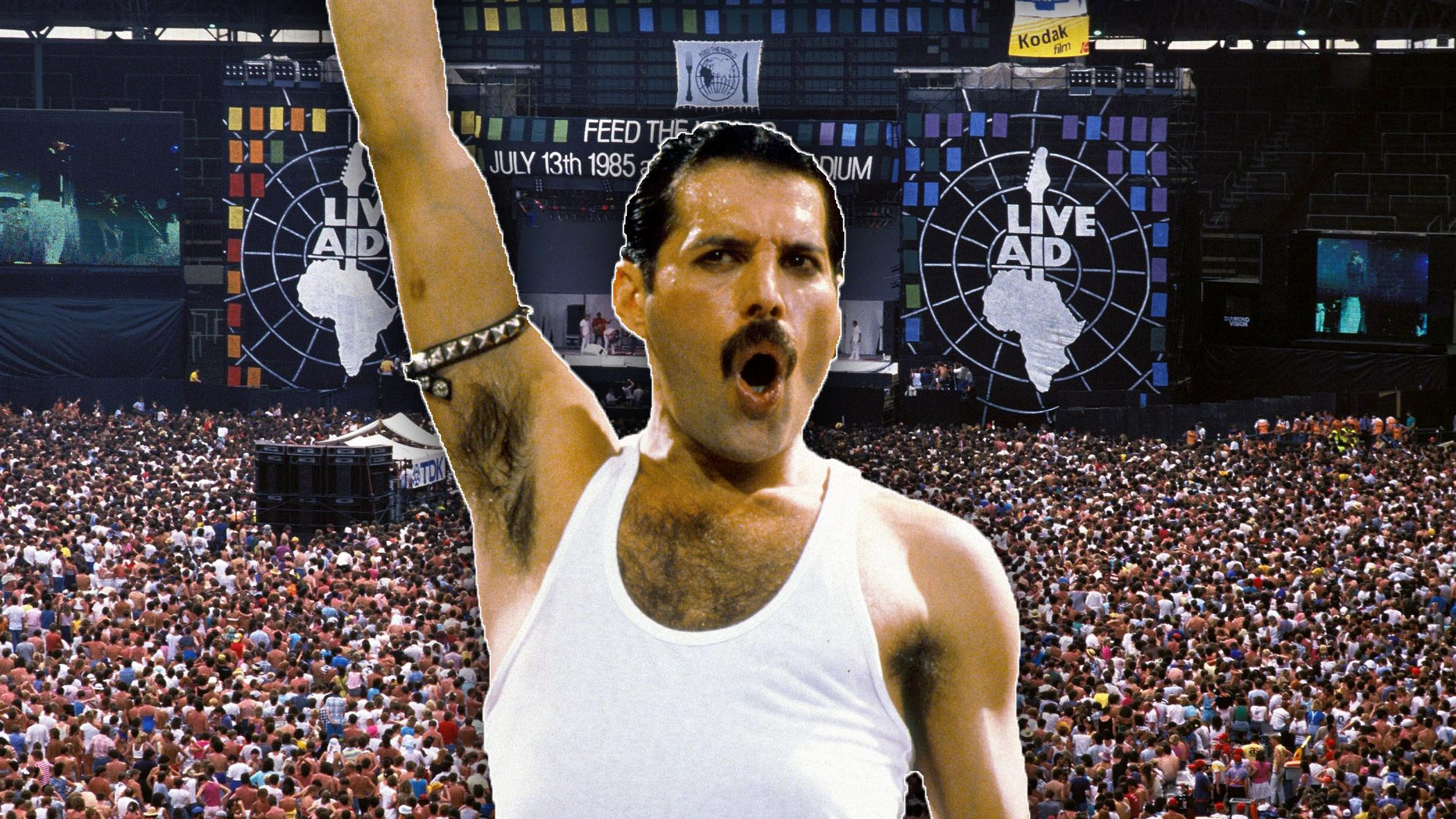 freddie mercury og Live Aid collage