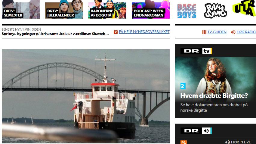 Screendumb af dr.dk