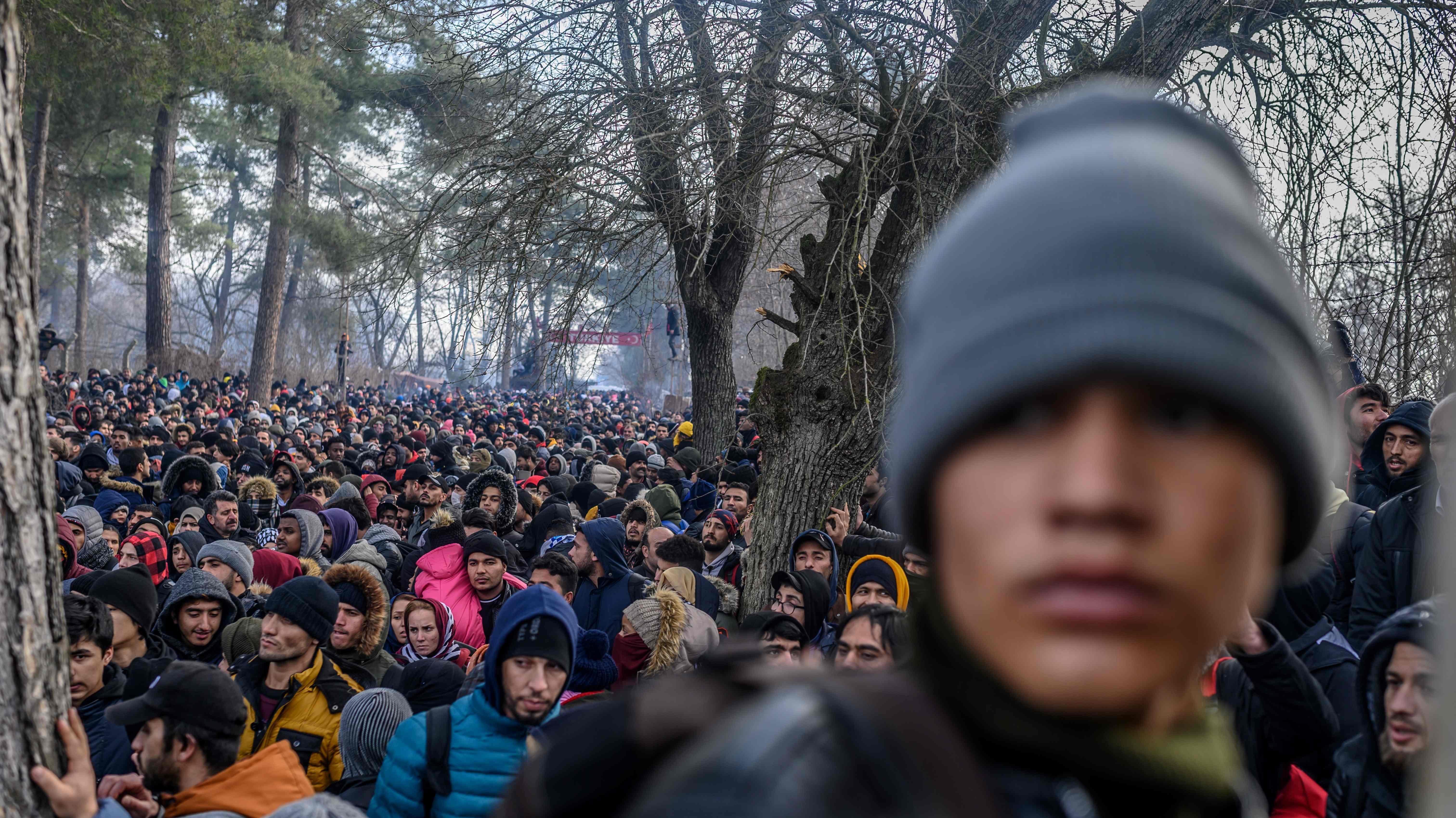 Migranter Strommer Mod Graekenland Vi Fik At Vide At Graensen Var