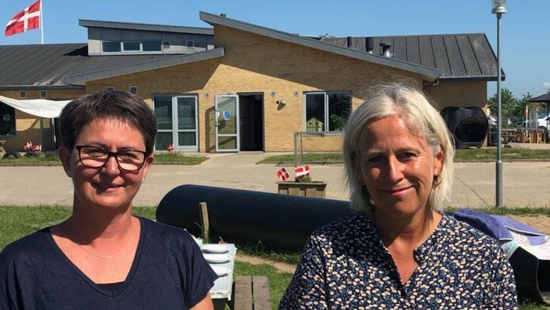 Mette Bülow, leder af børnehuset Lilholtgård, Børkop, pædagog Karina Rasmussen