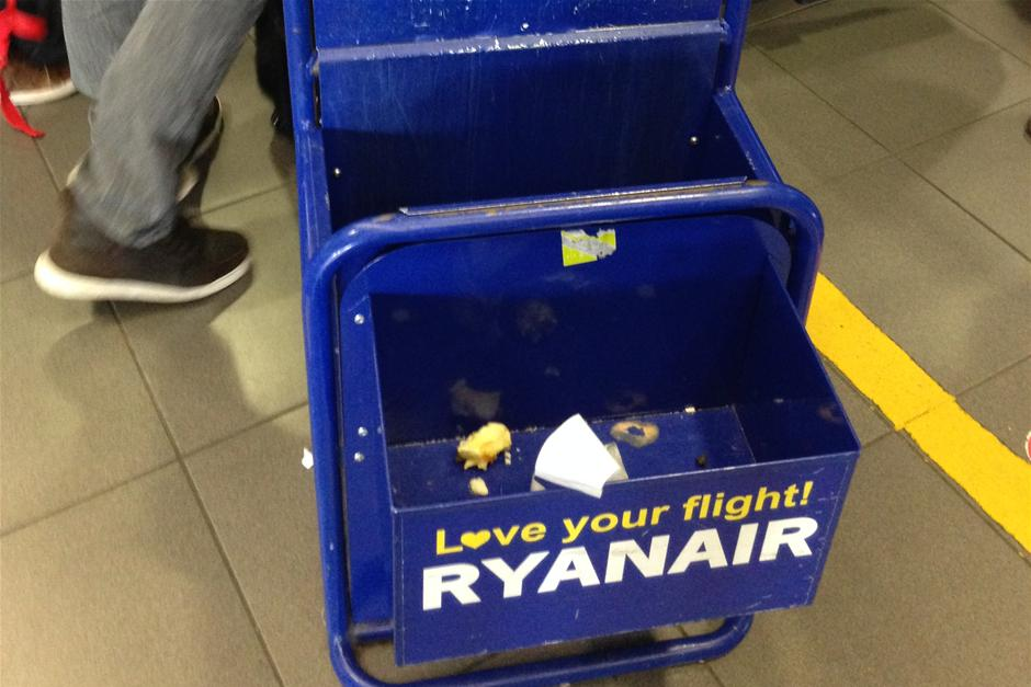 ryanair håndbagage væske