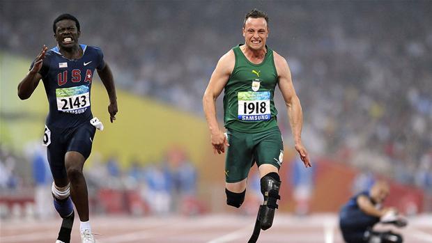 sydafrikansk løber uden ben