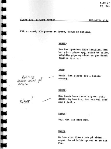manuskript eksempel