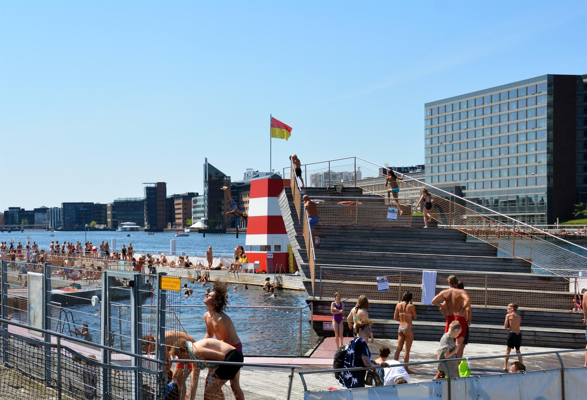 Sommer søndag Islands Brygge