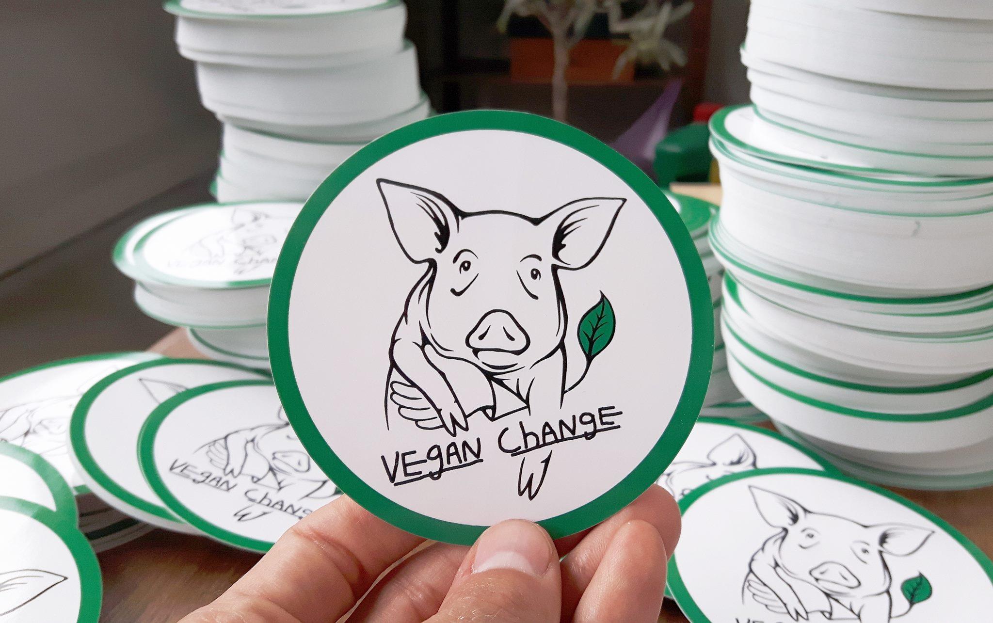 Vegan Change-klistermærker