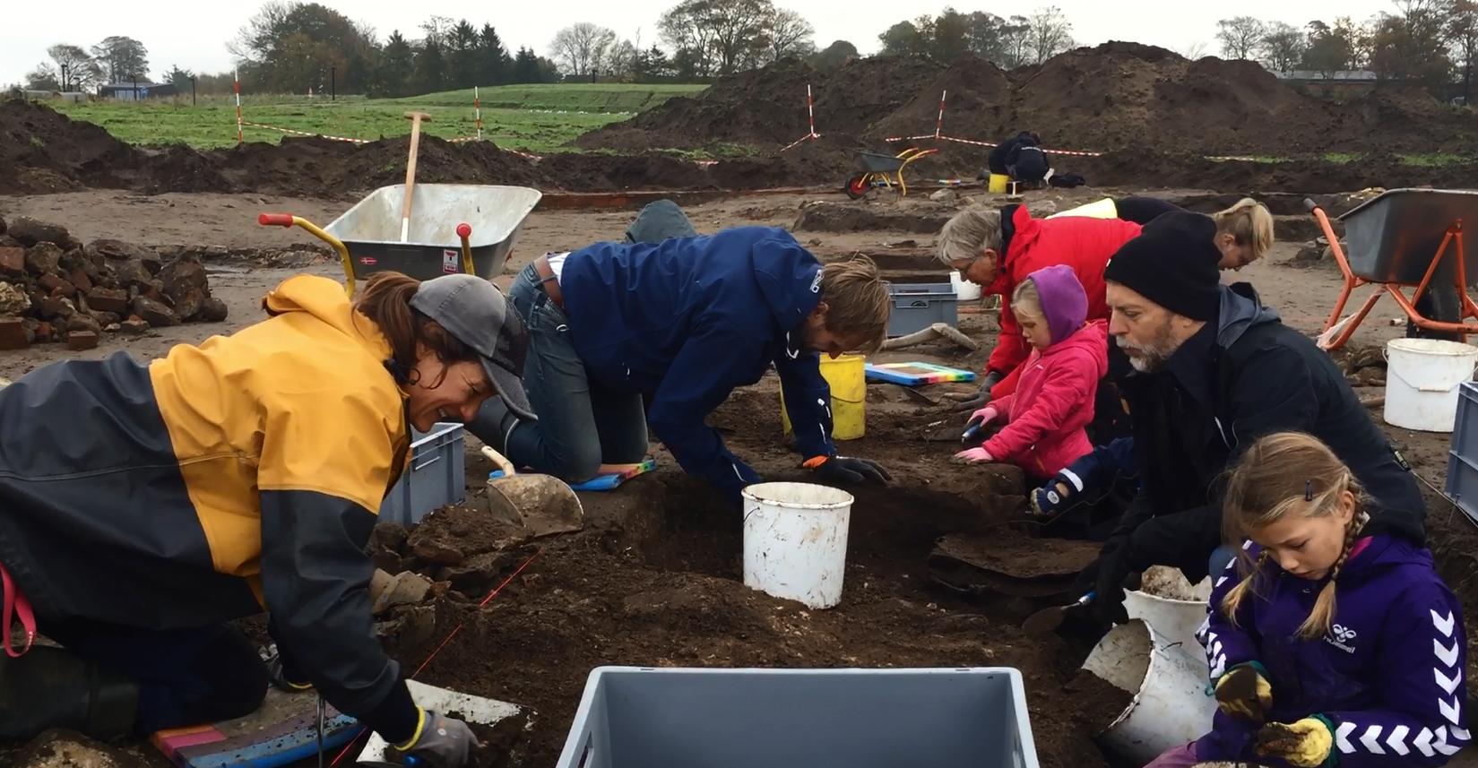 udgravning  folkeudgravning arkæologer kildebjerg ry