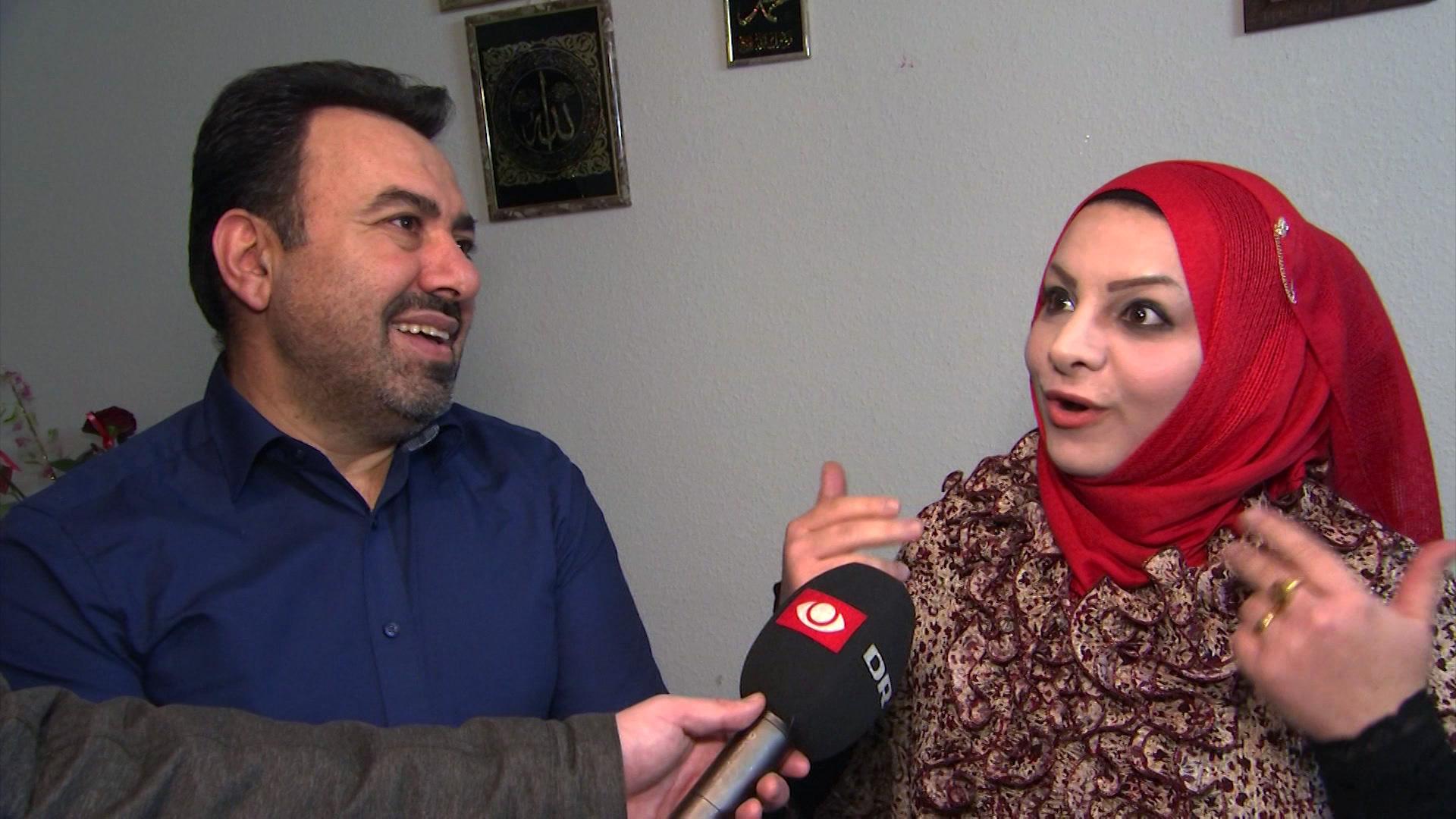 Ægteparret Gassan al-Mousawy og Ansam al-Shami