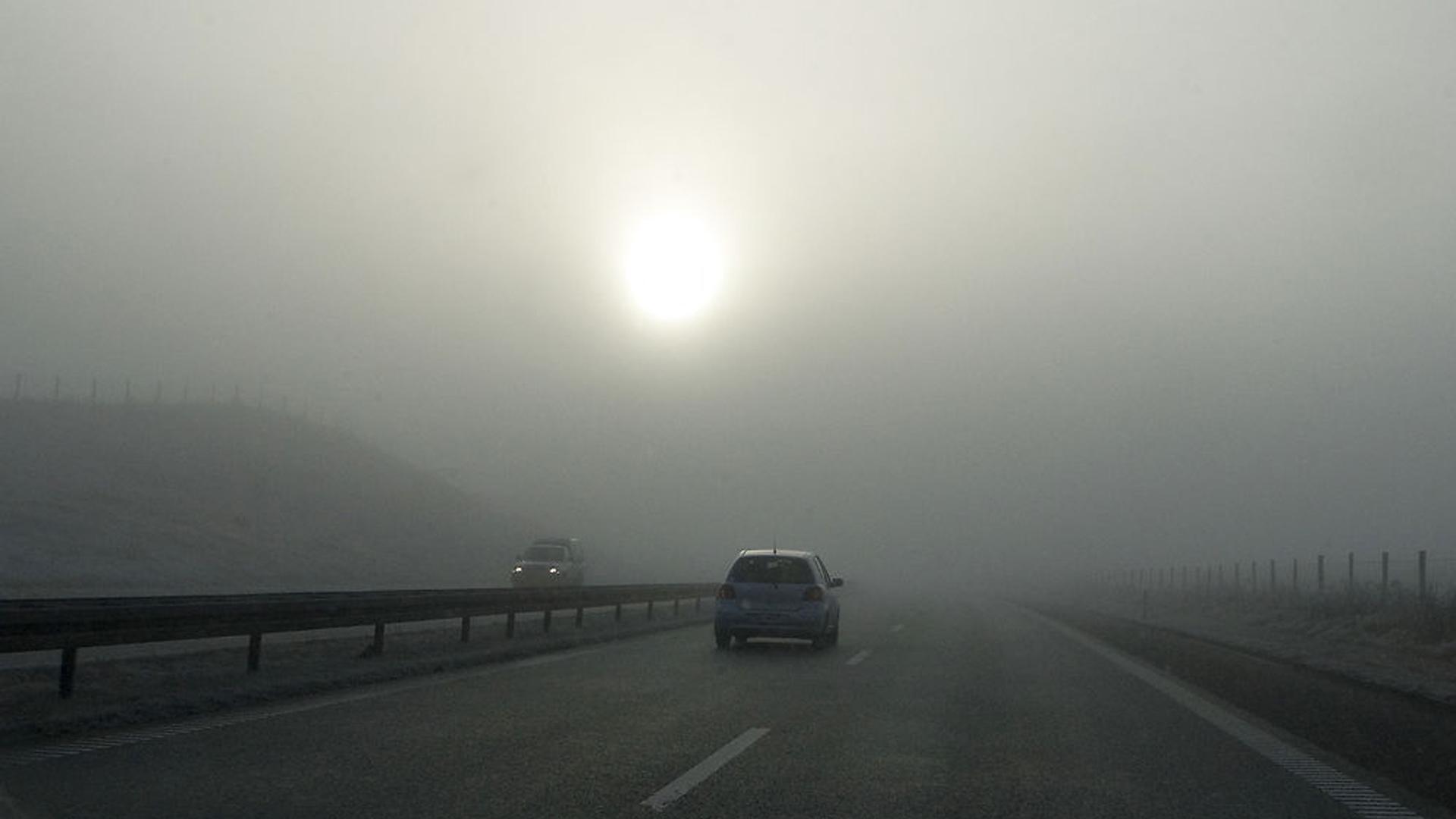 Tåge på motorvejen mellem Frederikshavn og Aalborg