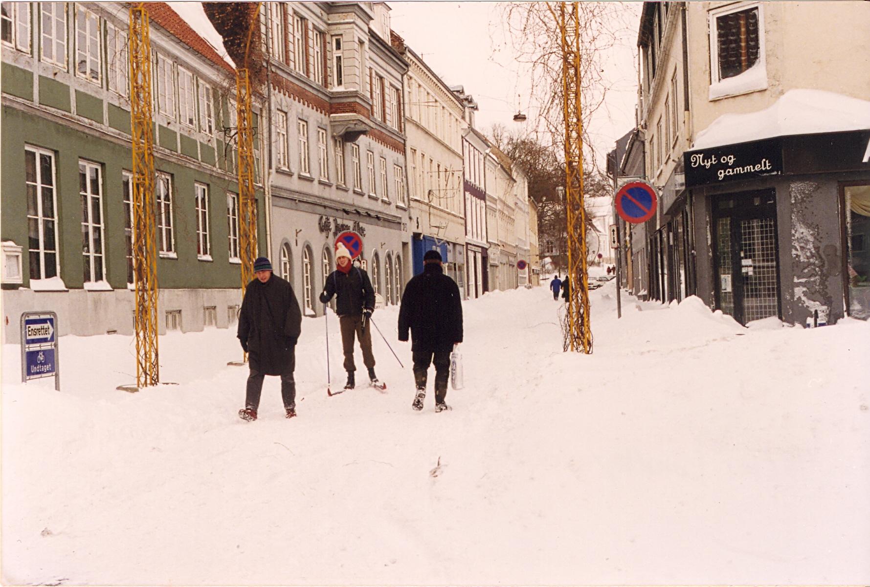 Randers efter snestorm i februar 1996