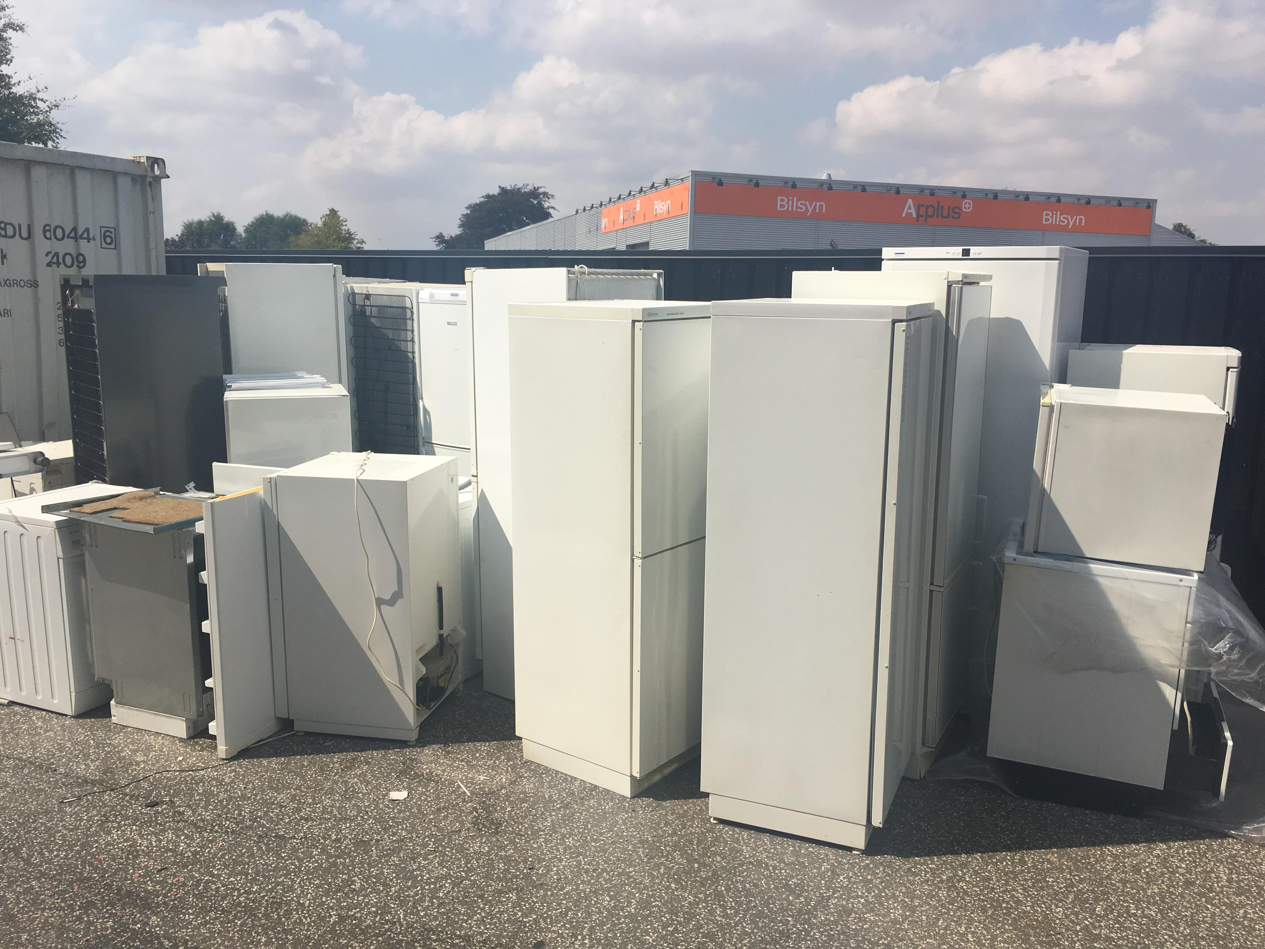 ødelagte køleskabe