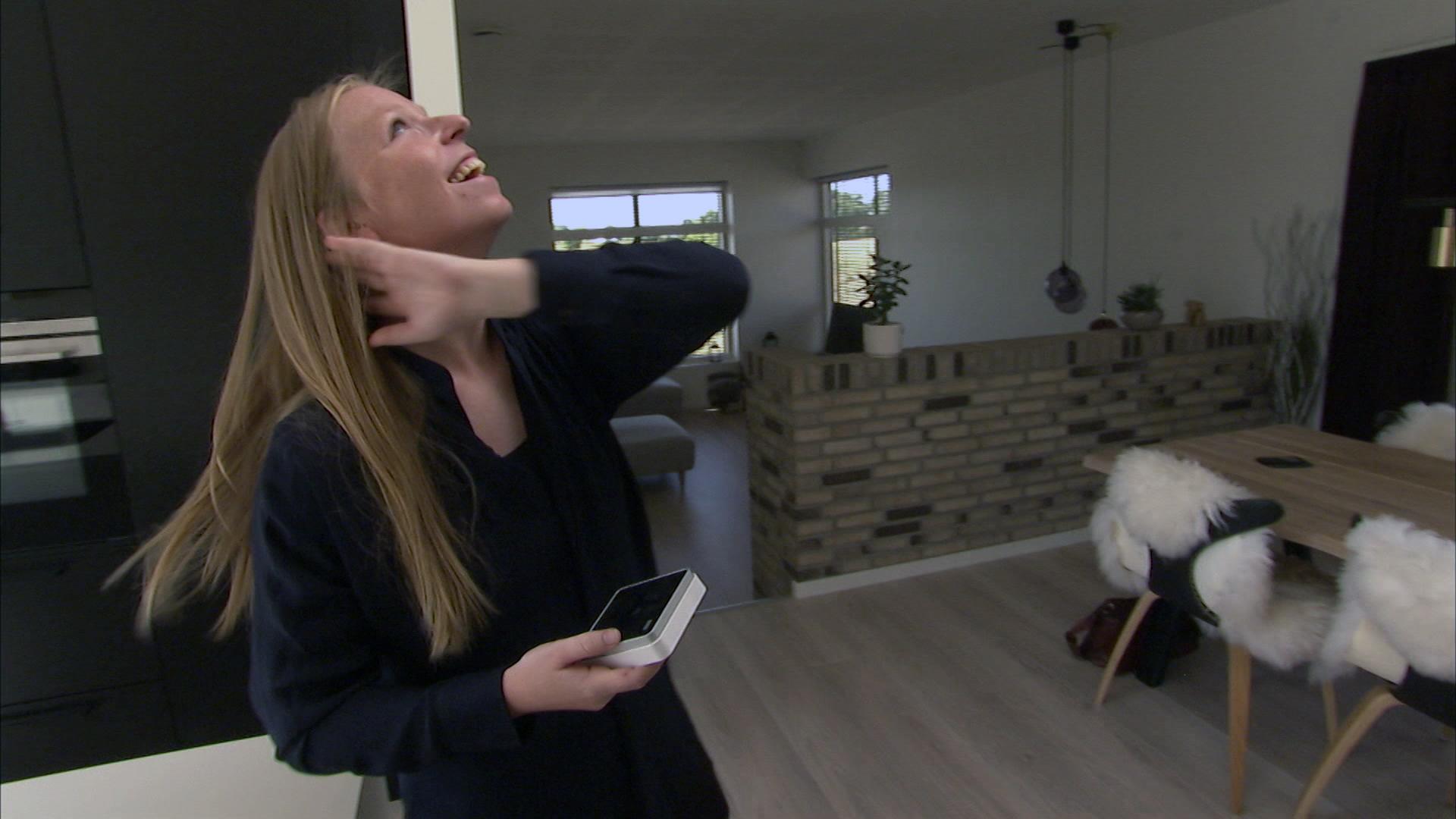 Christina Ravn Nielsen og kæresten Stefan lægger hus til indeklima-forsøgene.