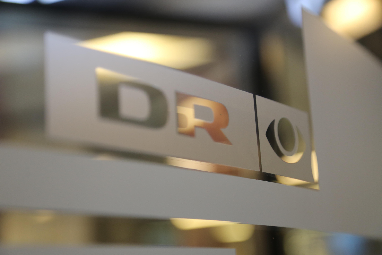 DR Nyheder logo svingdør