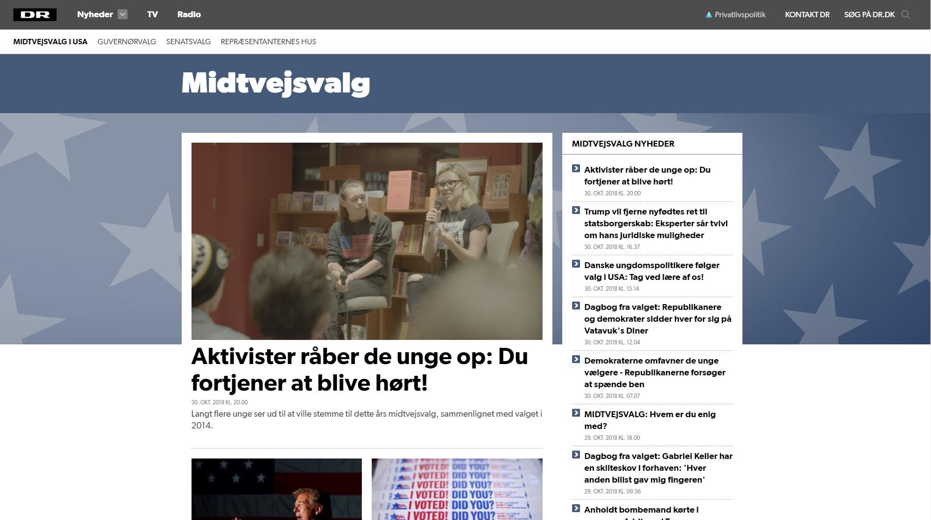 DR Nyheder midtvejsvalg tema