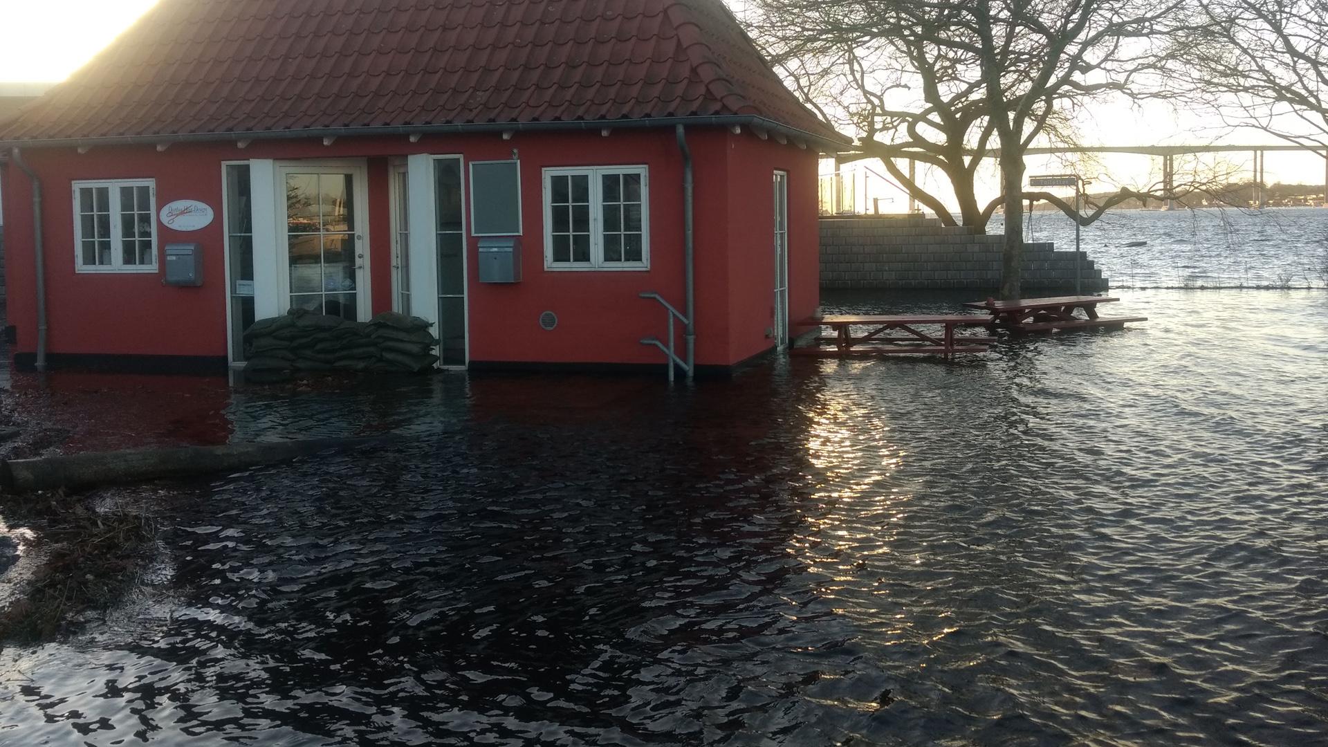 Høj vandstand i Syd- og Sønderjylland