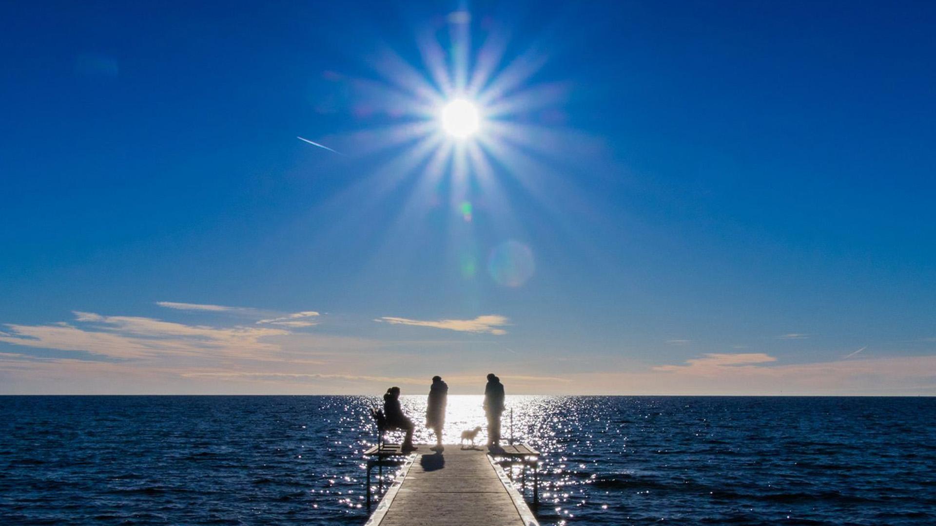 Sol på stranden