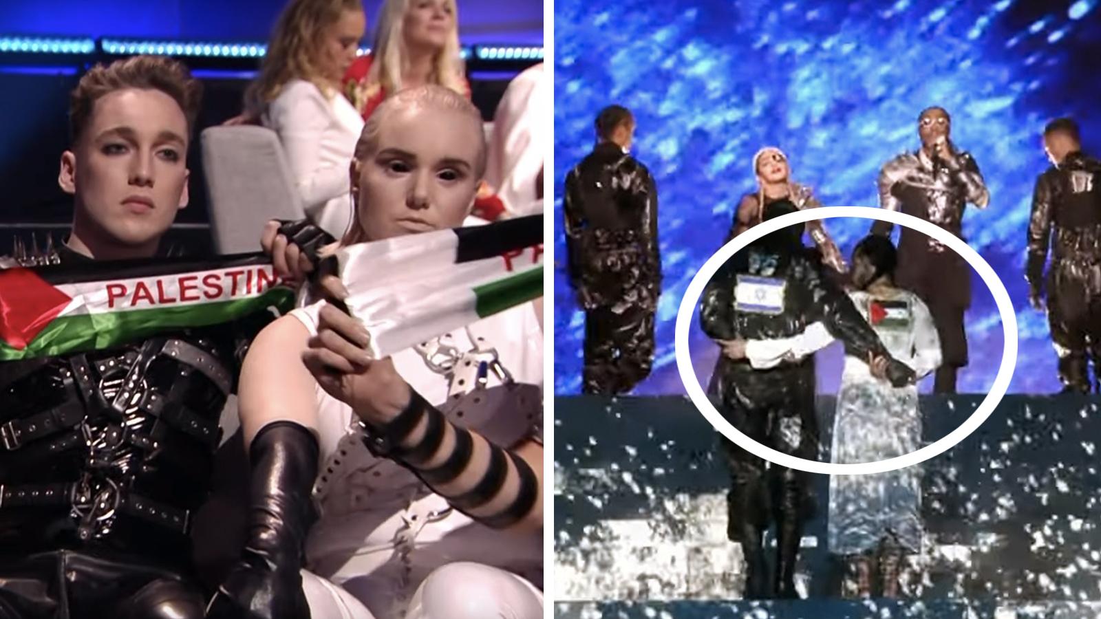 Palæstina-manifestation i Eurovision-finalen