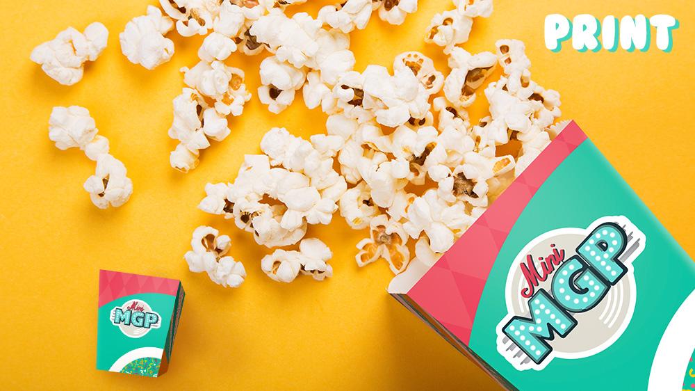 Print popcornholder til både barn og rulling