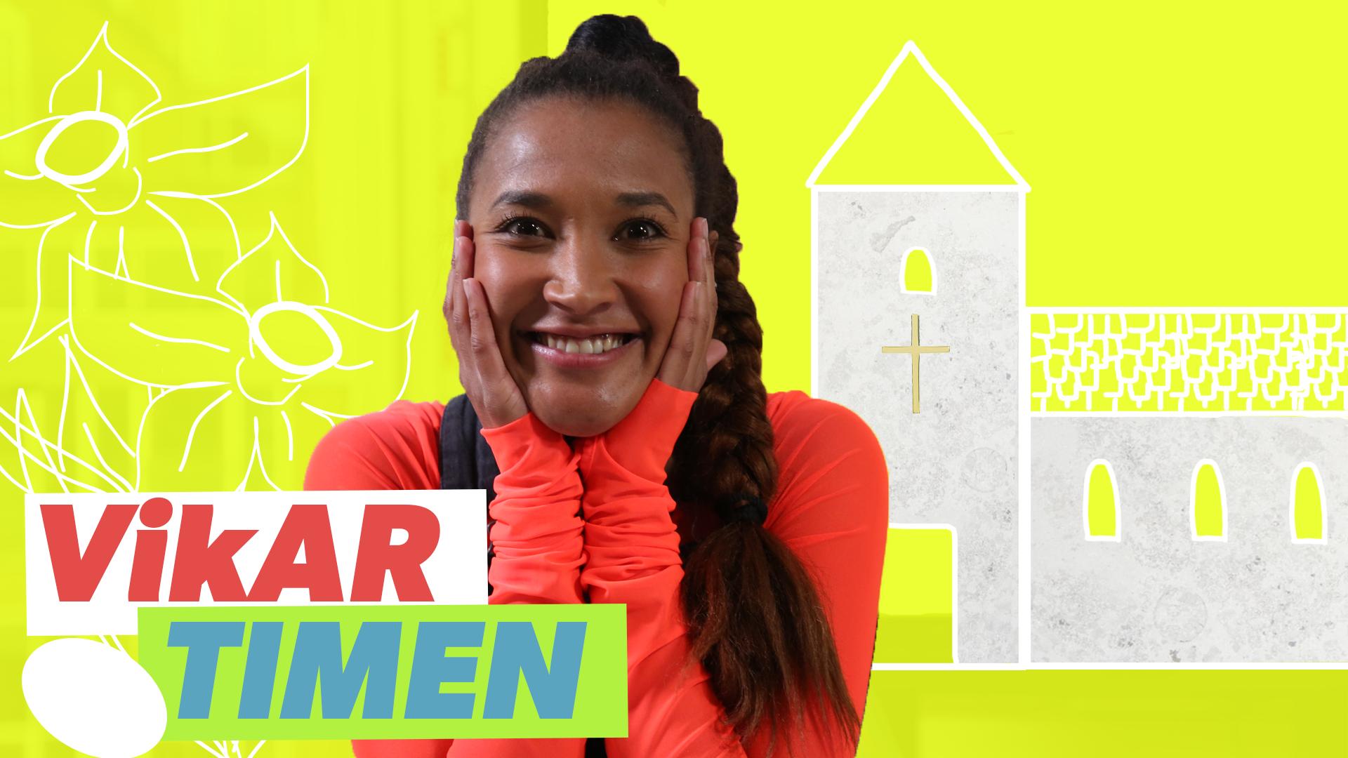 Vikartimen 0. til 3. klasse: Isabel får hjælp fra en præst til at lave sin egen påskefortælling
