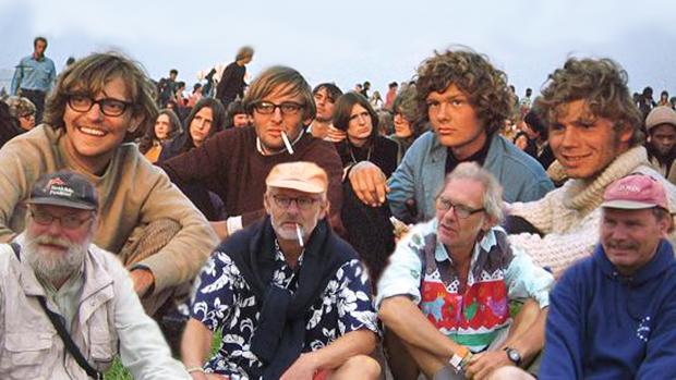 4 venner tog til Roskilde Festival i 1971