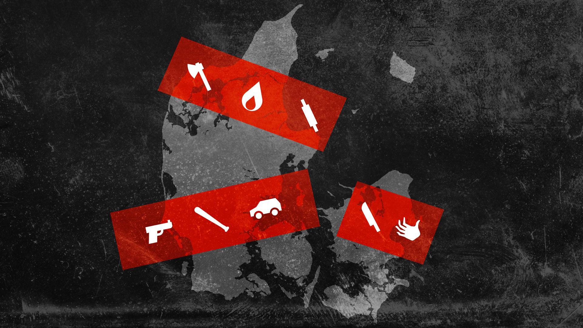 Se hvor drab i Danmark er begået