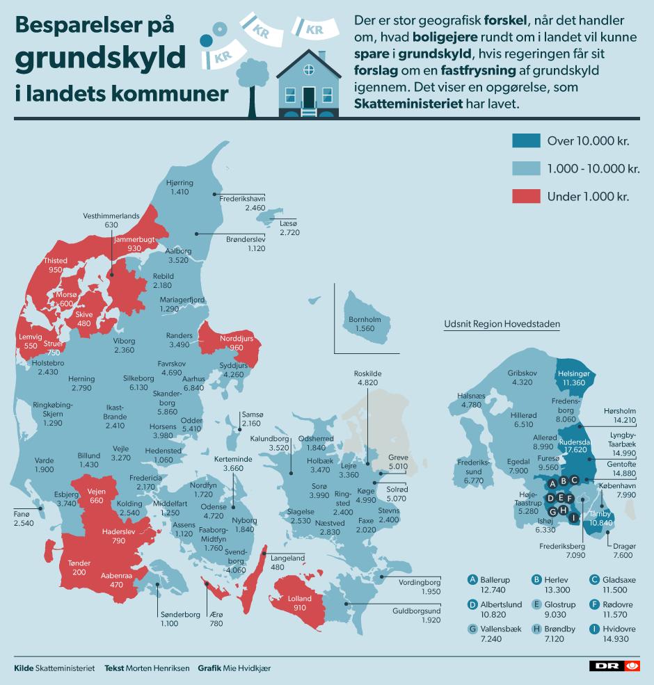 kort over nordsjællands kommuner