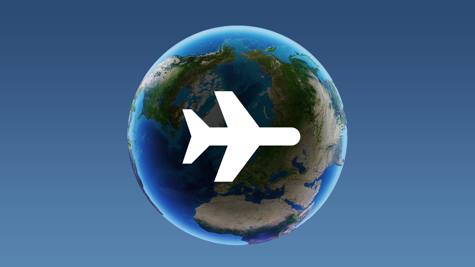 Se hvor meget din flyrejse skader klimaet