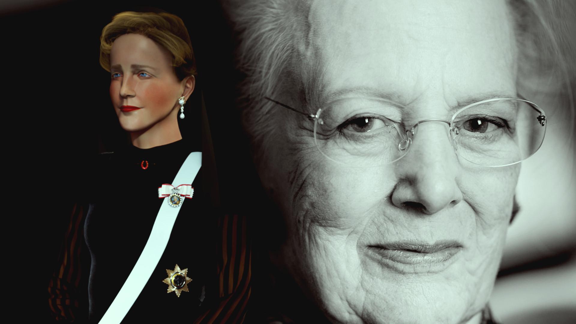 Her er kjolerne, der fortæller historien om dronning Margrethes vej til tronen)