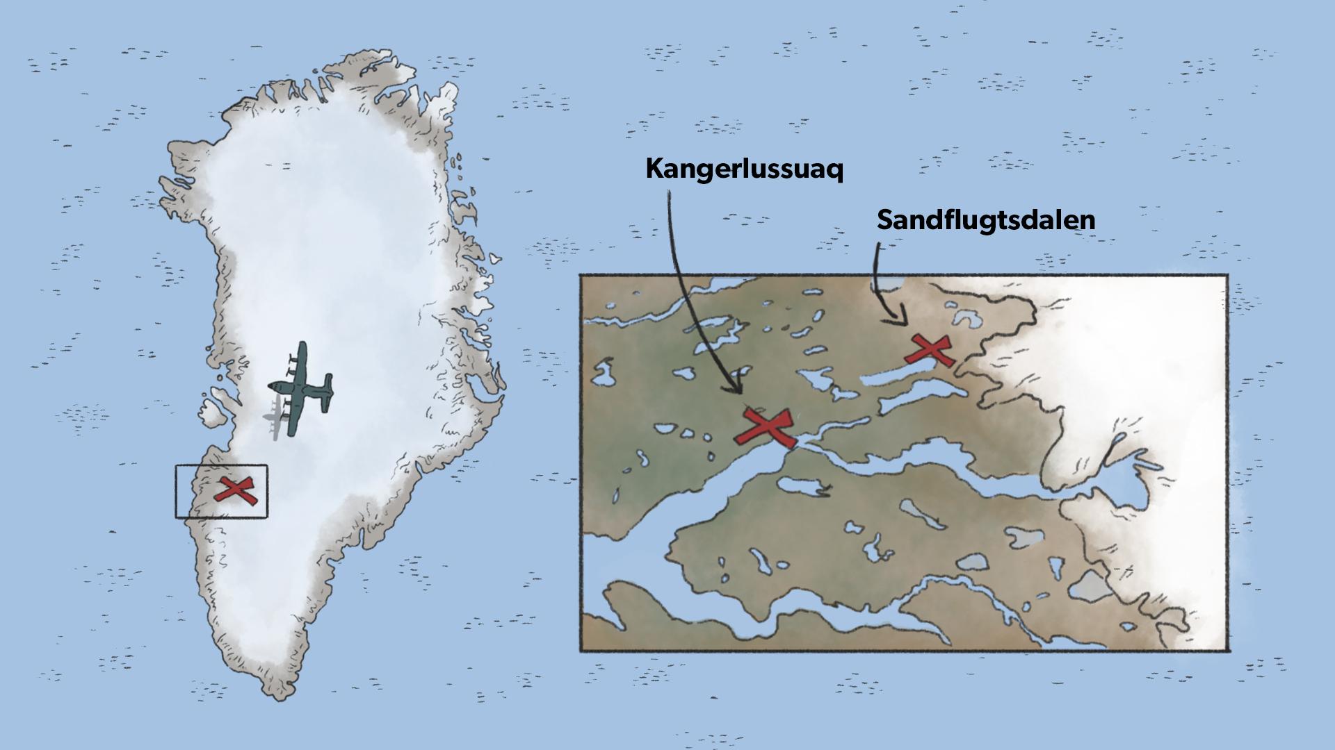 grønland kvadratkilometer