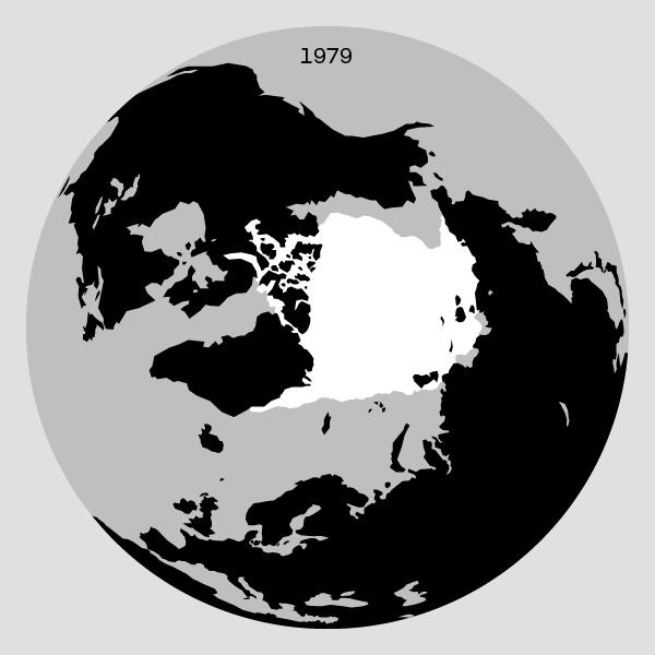 Grafik af den isen på arktis i 1979
