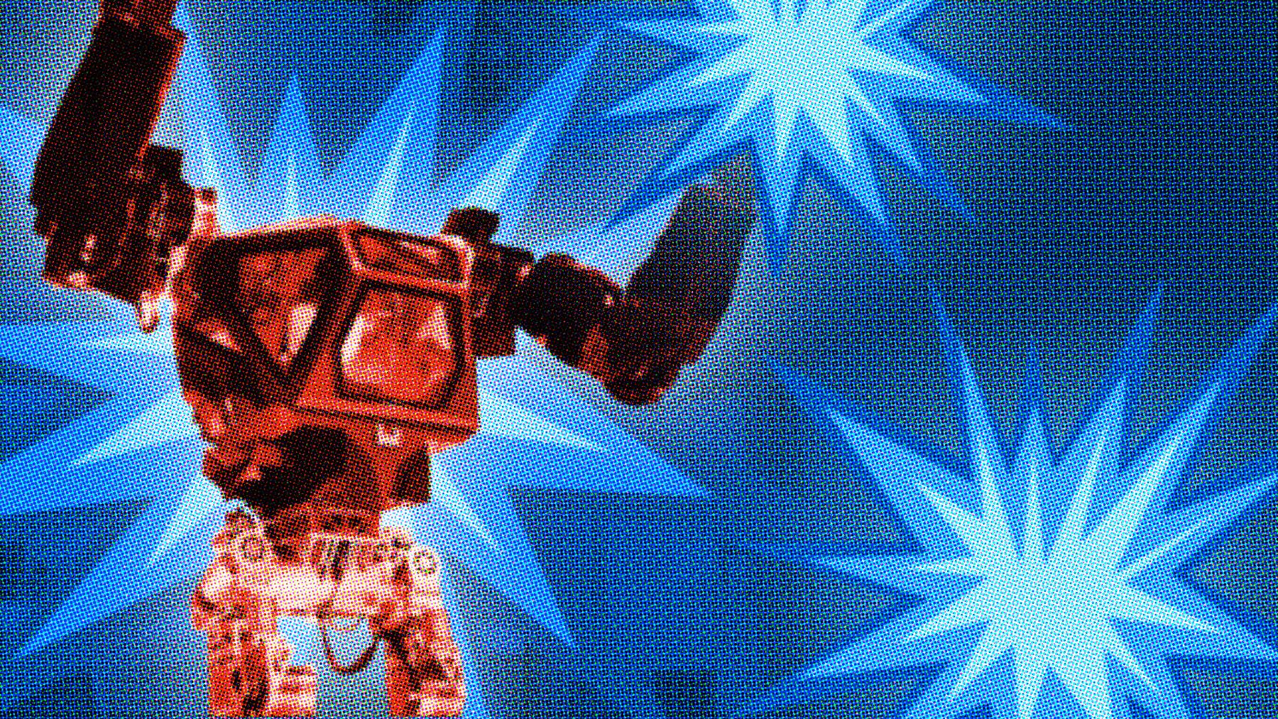 Storm P-maskiner og robot-burgere. Velkommen til nutiden)