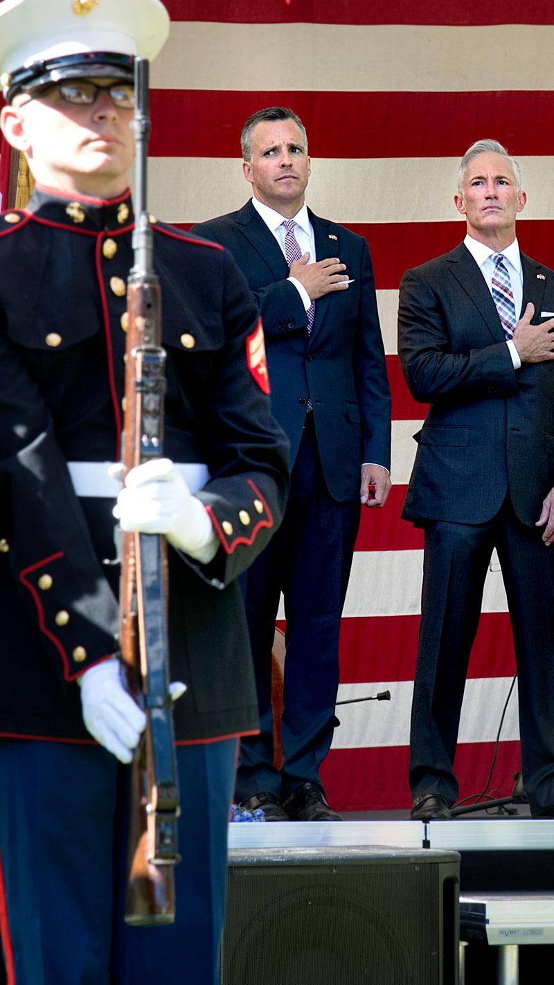 4. juli-fest på den amerikanske ambassade i 2014. Foto: Keld Navntoft /Ritzau Scanpix