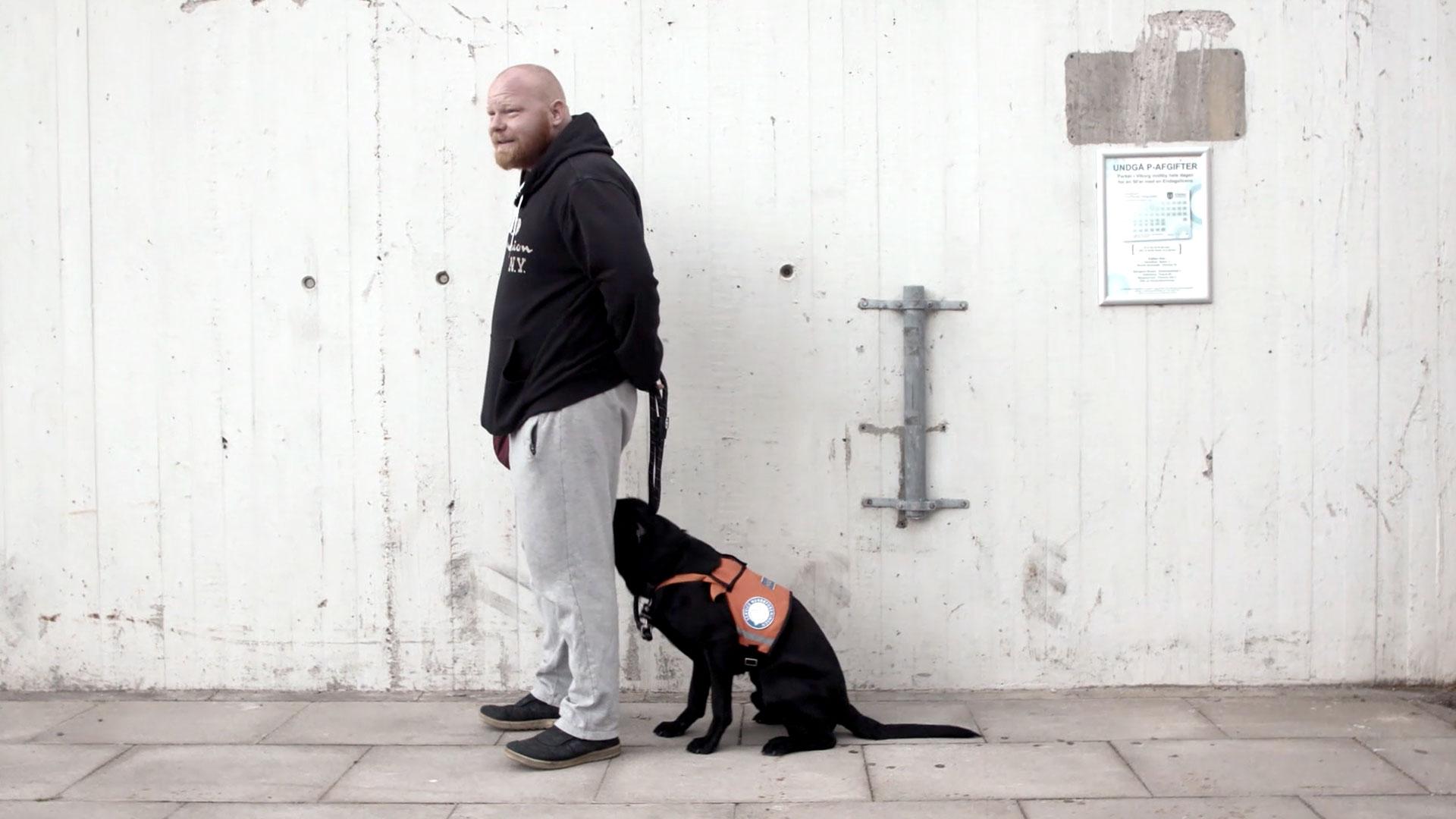 Renés hund kan standse mareridt og lugte et angstanfald, før det kommer